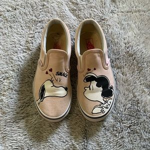 Girl's Slip-On Vans. Limited Edition, Size 1.5.